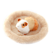 Small Animal Winter Warm Hamster Bed Soft Wool Ferret Rat Guinea Pig Sleeping Pad Round Mat Squirrel Rabbit Cage Pet Products цена
