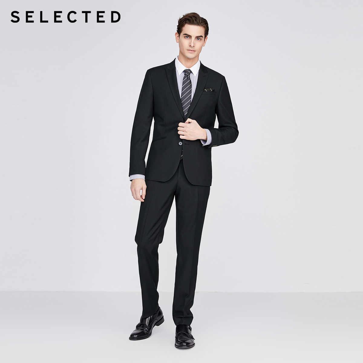 SELECTED 남성 슬림 레귤러 피트 블랙 자켓 비즈니스 블레이저 SIG | 42015X513