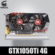 بطاقة الرسومات من VEINEDA طراز GTX1050Ti GPU بسعة 4 جيجابايت DDR5 PCI E 128Bit تناسب بطاقات nVIDIA VGA Geforce GTX1050ti Hdmi Dvi لعبة 1050