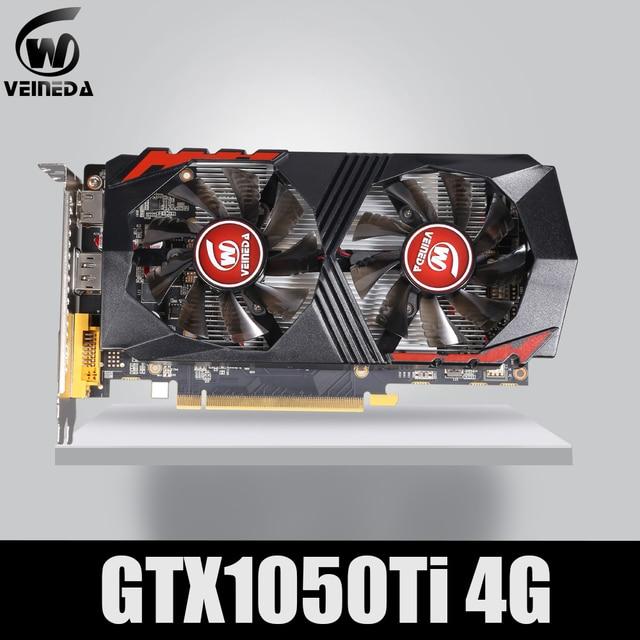 VEINEDA carte graphique GTX1050Ti, GPU, 4 go DDR5, pcie 128Bit, pour carte nVIDIA VGA, carte Geforce GTX1050ti, Hdmi, Dvi, 1050