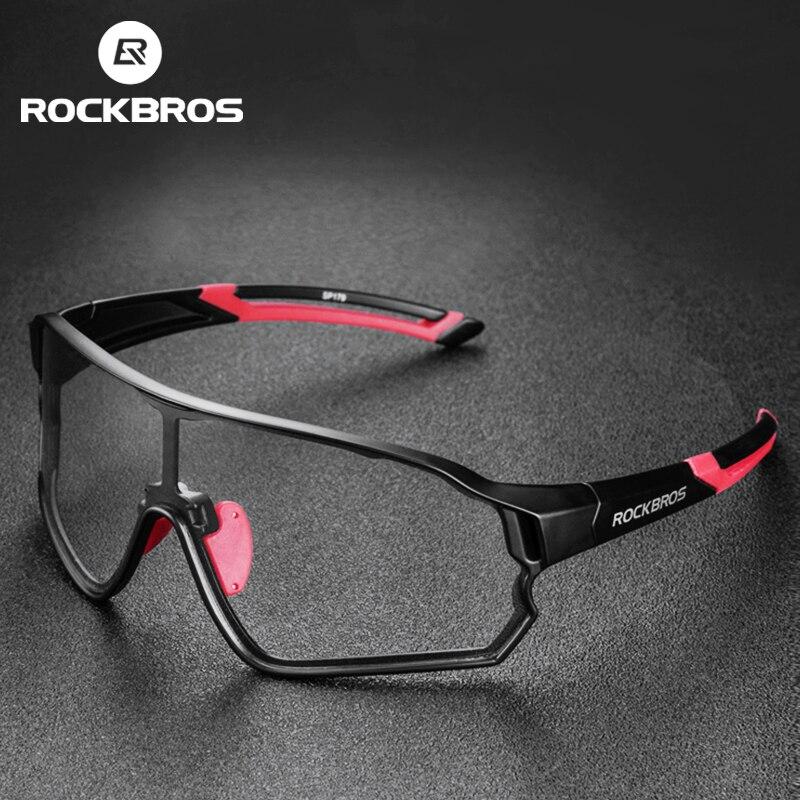 Очки ROCKBROS велосипедные фотохромные с защитой UV400, спортивные солнцезащитные аксессуары для мужчин и женщин, легкие антибликовые, для походо...