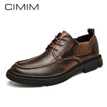 CIMIM Brand New Men Casual Martin Shoes Big Size Genuine Leather Business Comfortable Men #8217 S Shoes Office Luxury Leather Shoes cheap Split Leather Rubber Spring Autumn Adult 5654 Loafers Fits true to size take your normal size Slip-On casual shoes Solid
