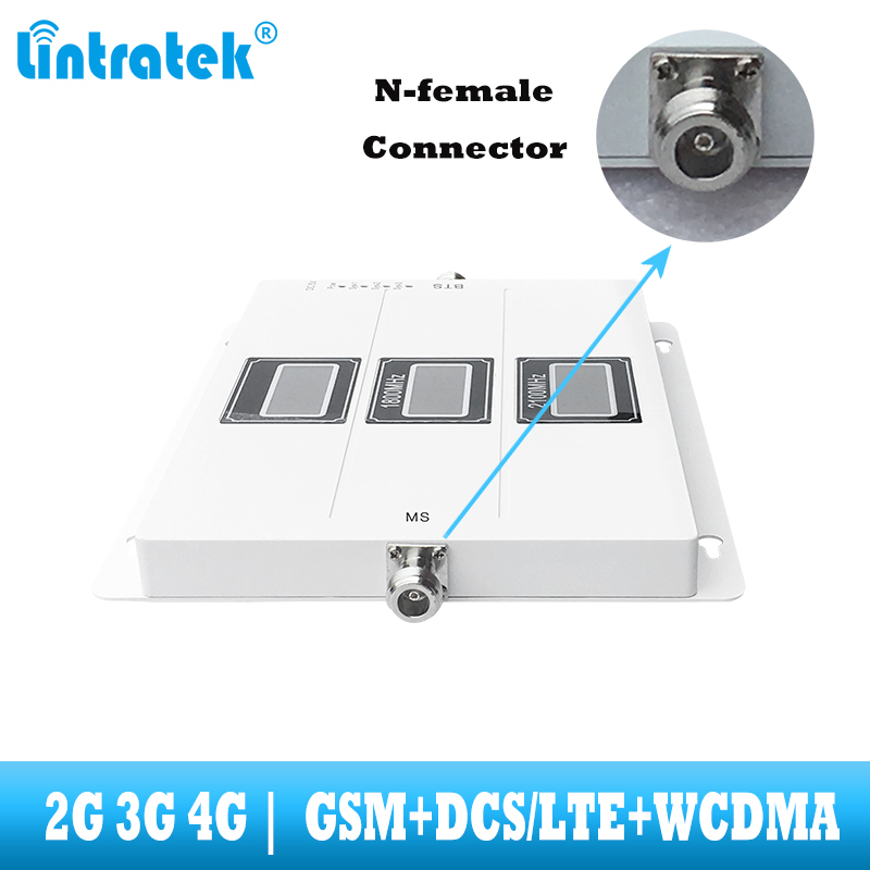 Image 3 - lintratek Tri Band Cellular Repeater GSM 900 UMTS 2100 1800 Mobile phone Signal Booster 70dB Gain 2G 3G 4G internet Amplifier-in Signal Boosters from Cellphones & Telecommunications