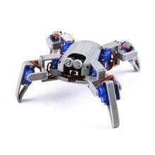 Bionic квадрупед Паук Робот комплект для Arduino,wifi diy, STEM ползание робот, ESP8266,NodeMCU,Arduino робот Комплект