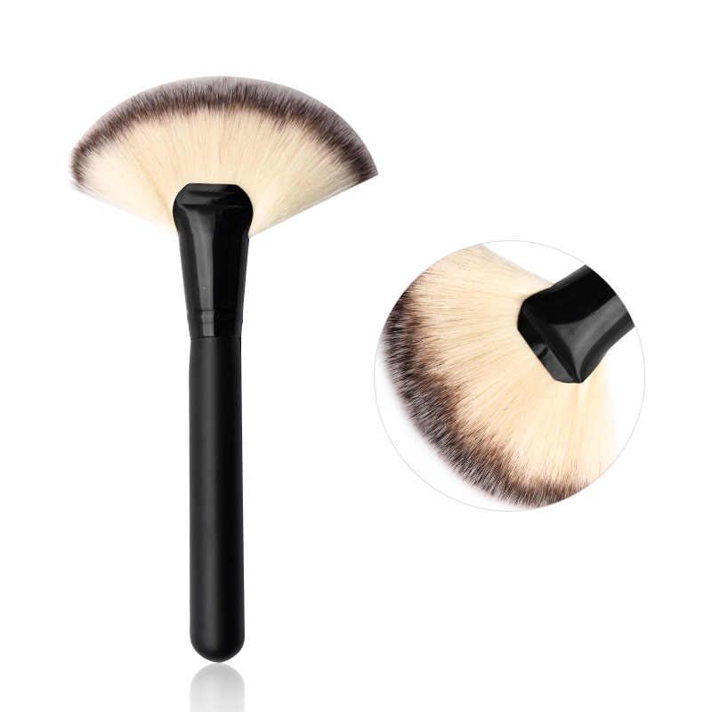Pędzel do podkładu polerowanie szczotki konturowe wentylator produkt do konturowania pędzel zakreślacz do twarzy pędzle do makijażu narzędzia do makijażu MZS1013