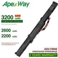 ApexWay 11.4v laptop battery for Asus A41N1501 A41LK9H  N552 N552V GL752 GL752V GL752VL GL752VLM GL752VW GL752VWM|Laptop Batteries|Computer & Office -