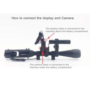 Image 2 - חיצוני ציד אופטיקה משקפת טקטי דיגיטלי לייזר אינפרא אדום ראיית לילה טלסקופ משקפת עם ir עבור Sight