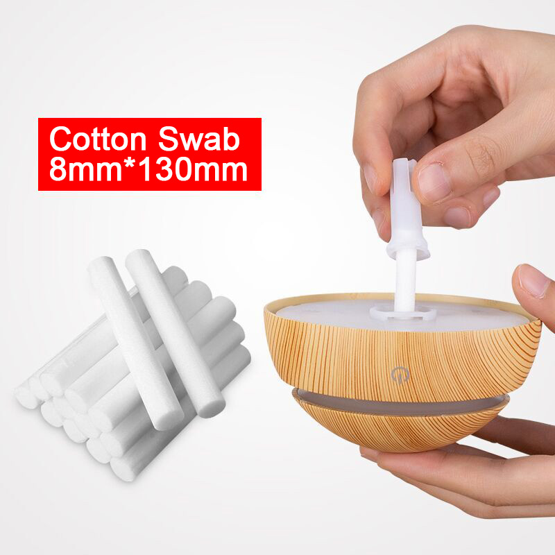 KAIPUTE 8mm*70mm Cotton Swab For Air Humidifier For Car Diffuser Aroma Diffuser Filters Can Be Cut Replace Parts 10 PCS/Lot