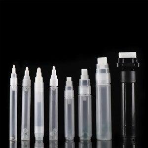 1 Pcs Plastic Empty Pen Rod Nib 3mm~30mm Barrels Tube for Graffiti Pen Liquid Chalk Markers Paint Pen Refillable ink(China)