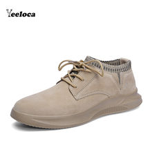 Genuine Leather Casual Shoes For Men Fashion Sneakers Mens Comfortable Autumn Shoes Male Footwear Spring Ankle Boot Yeeloca