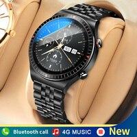 Reloj inteligente con memoria 4G para hombre, pulsera con Bluetooth, llamada, TWS, grabación completamente táctil, T-7, Fitness, para IOS y Android