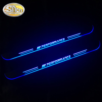 SNCN Waterproof Acrylic Moving LED Welcome Pedal Car Scuff Plate Pedal Door Sill Pathway Light For BMW E90 2006 - 2010 2011 led door sill moving for bmw 3 touring e46 e91 2004 2012 scuff plate acrylic door sills car welcome light sticker accessories