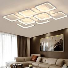 Modern LED Chandelier for Living Room Decoration Ceiling Chandelier Bedroom Kitchern Lights Adjustable Brightness Light Fixtures