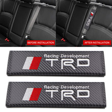 1 шт. чехол для автомобильного ремня безопасности из углеродного волокна, наплечная подушка для автомобиля для Toyota TRD corolla chr avensis yaris rav4 Camry, ав...
