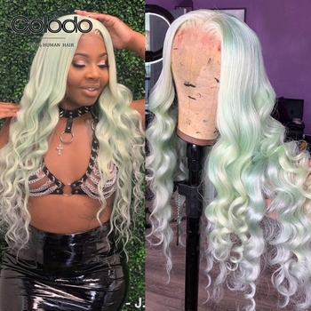 Remy Brazilian Loose Deep Wave Lace Front Wig Ombre Orange Hair Wig Pre Plucked Blonde 150% Density Human Hair Wig With Babyhair