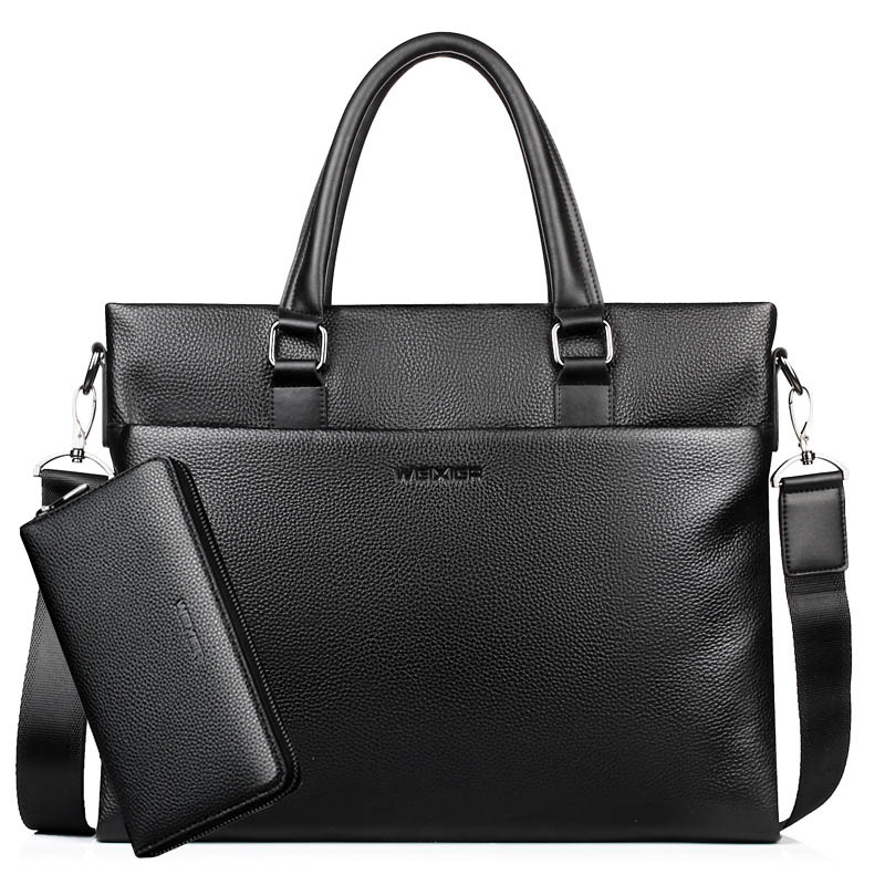 Genuine Leather Briefcase Men Laptop Bag Men Messenger Bags Cow Leather Male Briefcases Sac Homme WBS756