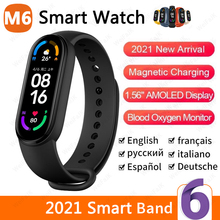 2021 New M6 Smart Watch Men Women Smartwatch Heart Rate Sports Fitness Tracking Bracelet For Android Ios Wrist Band 6 Watches
