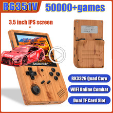 RG351V Handheld Game Console Emulator Built-in 50000+ Games 3.5 inch IPS Screen Retro Game Player For PS1 N64 NDS GBA DC WIFI