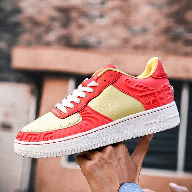 Zapatillas de deporte altas suaves, cómodas y transpirables, zapatos informales antideslizantes resistentes al desgaste para exteriores, nuevo estilo 4