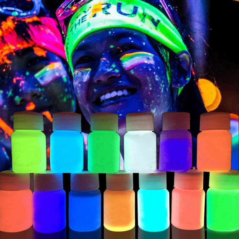 Glow In Dark Pigment, 13 Color Luminescent Powder Non-Toxic Safe Pigment Powder Paint, Mucilage, Nail, Resin, Concert Or DIY - 2