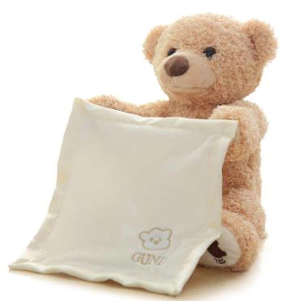 30cm Peek Teddy Bär Verstecken Spielen Suchen Schöne Cartoon Gestopft Kinder Geburtstag Geschenk Niedlich Elektrische Musik Bär Plüsch Spielzeug