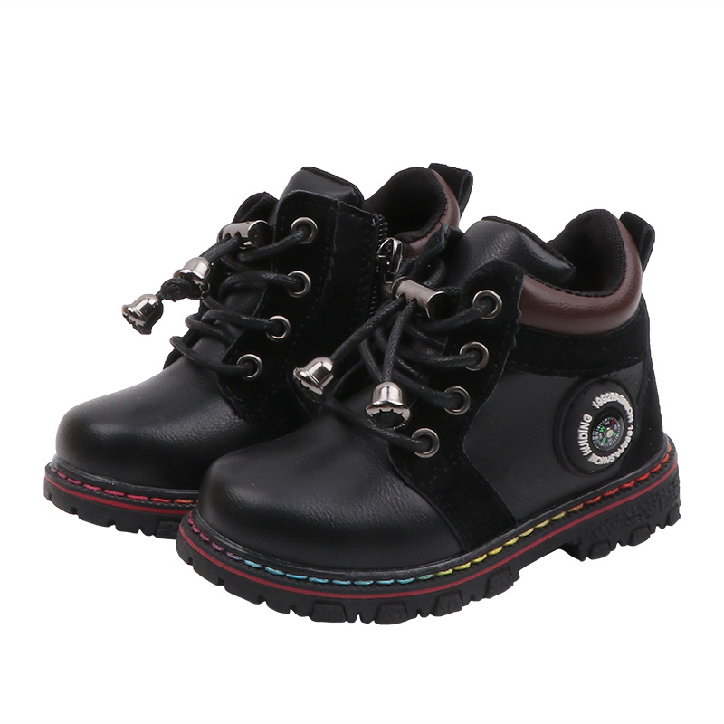 New Children's Cotton Boots Kids Casual Boys Girls Warm Shoes Non-slip Martin Boots For Kids Toddler