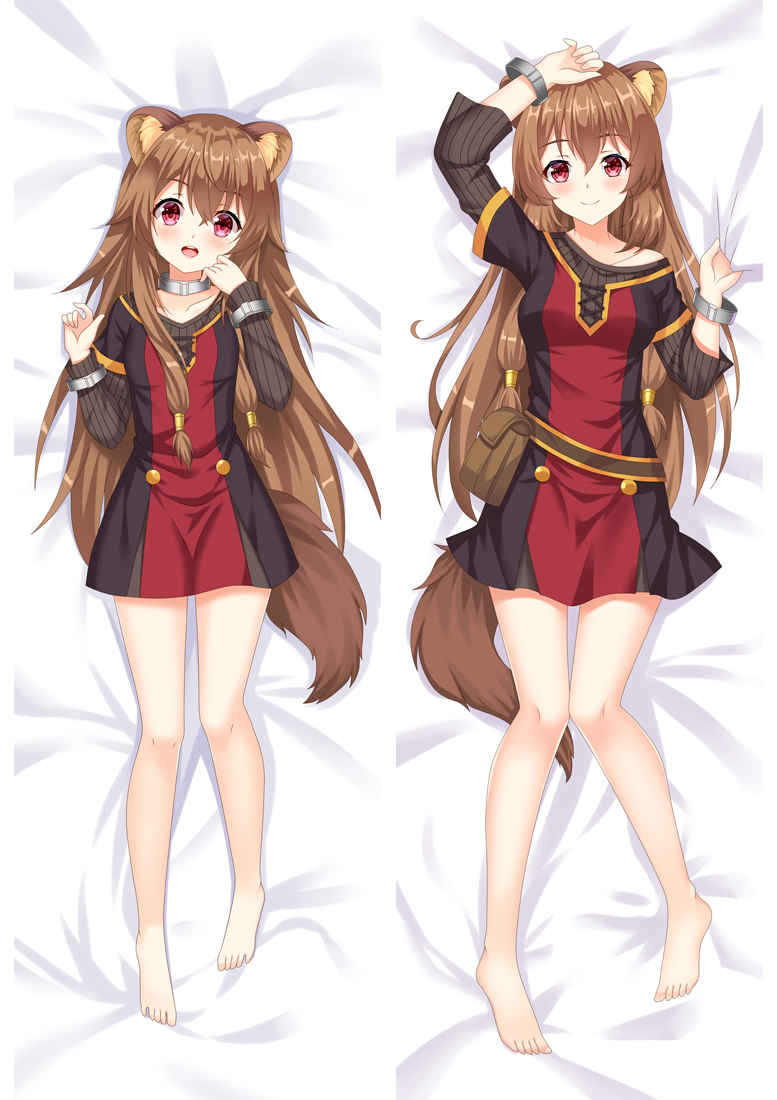 Anime The Rising of the Shield Hero sexy girl Raphtalia Hugging Body Pillow  Cover body Pillow case