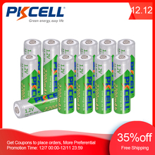 12 x PKCELL AA Battery NiMH Rechargeable Batteries 1.2V 2200mAh Low self discharge Durable 2A Bateria For Toy And Camera
