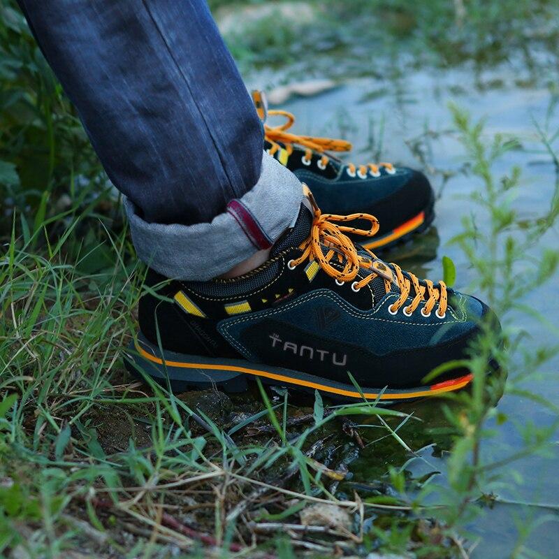 Professionelle Trekking Schuhe Männer Wasserdichte Wanderschuhe Herbst Winter Leder Klettern Berg Schuhe für Männer Jagd Stiefel