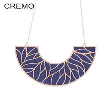 Cremo Chain Pendant Statement Necklace Trendy Interchangeable Leather Choker Necklaces & Pendants for Women