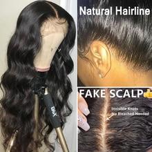 Pelucas de cabello humano con onda de encaje Frontal, cuerpo 13x6, densidad 250, prearrancado, pelo de bebé, sin pegamento, 360, encaje Frontal, Dolago 370, Remy