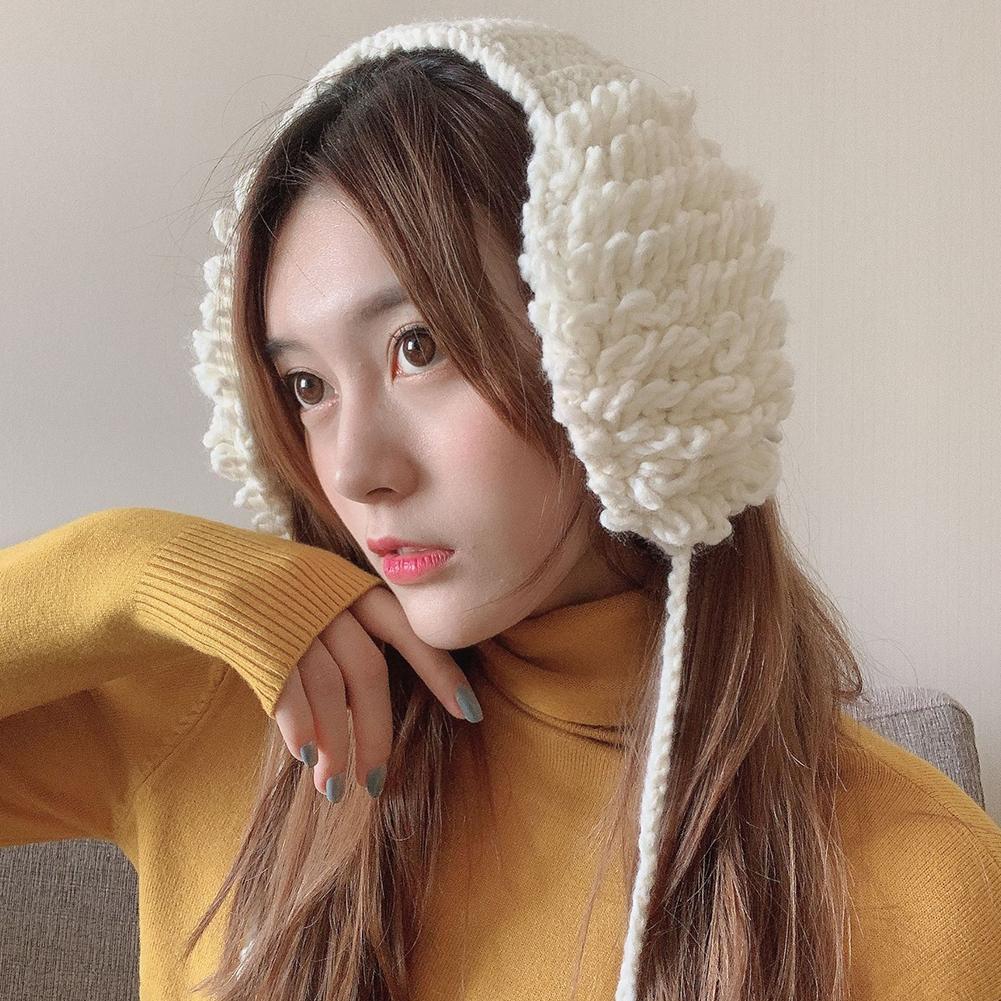 Корейская версия, Зимняя мода, женские милые помпоны, теплые шерстяные вязанные наушники, наушники, подарок, милые теплые вязаные наушники