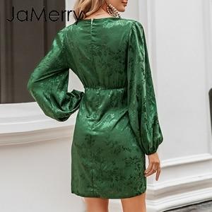 Image 3 - JaMerry Vestido corto de fiesta, Vintage, corto, acampanado, con hilera de botones, verde, cinta, highstreet, elegante