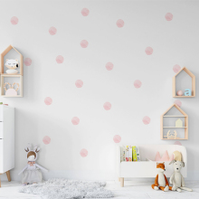 36 Pcs/Set Watercolor Dot Wall Stickers for Kids Rooms Decoration DIY Fade Resistance for Home Bedroom Decor