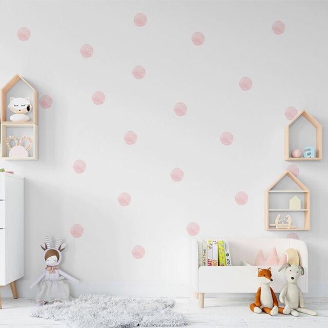 36 قطعة/المجموعة المائية نقطة ملصقات الحائط للأطفال غرف الديكور DIY تتلاشى المقاومة للمنزل غرفة نوم ديكور