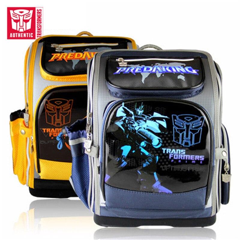 TRANSFORMERS 2019 New Children's Large Capacity Waterproof Schoolbag Primary  Schoolbag Hero Cartoon Pattern Student's Schoolbag