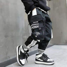 teenage boys pants 3-10 years old cotton Korean casual loose pants children spring and autumn trousers  large pockets
