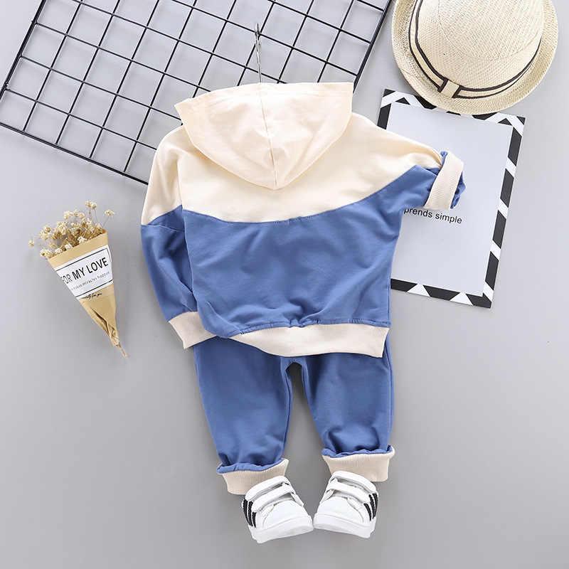 Sudadera con capucha para niños conjunto de ropa de moda para bebés conjunto Casual primavera otoño Niños Niñas Ropa 1 2 3 4 años