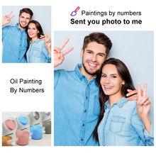 Pintura por números de foto personalizada DIY, dibujo para colorear, pinturas acrílicas, pintura al óleo cuadro pintar por números pintura oleo adultos cuadros para el hogar lienzos cuadros decorativos pintura numerada
