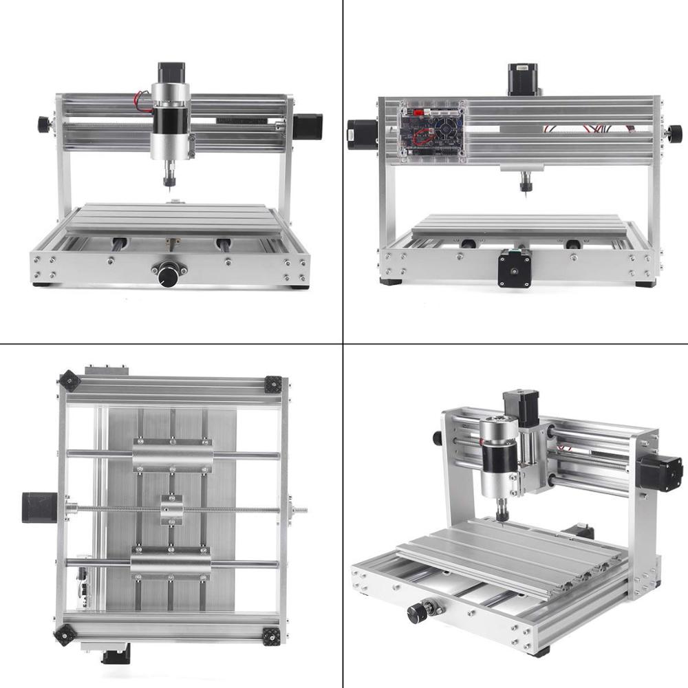 CNC 3018 pro Laser Engraving Machine with 200W Spindle and 3 Axis Rotation for PCB/PVC/WOOD/METAL 2