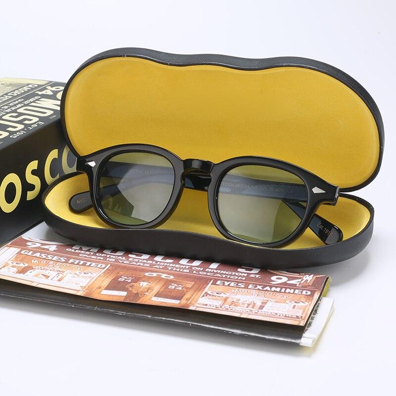 Fashion Sunglasses Men Women With Box&Case Brand Designer Light Blue Johnny Depp Vintage Sun Glasses For Male UV400 Oculos YQ589