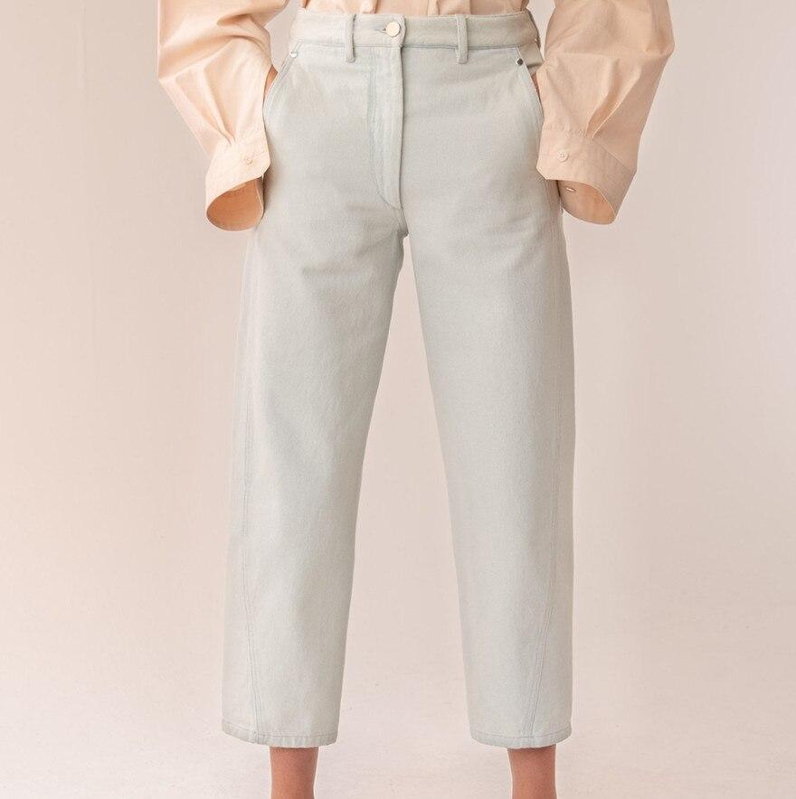 Women Pants 2019 Autumn Casual Cotton Multi-Pants Women's Jeans