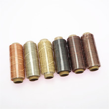 6 Pieces Leather Sewing Flat Waxed Thread Wax String Hand Stitching Crafts 50 Meters 1mm