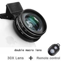 37MM 15X Macro Lens 4K HD Professional Photography Phone Camera Lens for Eyelashes Diamond Jewelry 30X Macro Lens for Smartphone