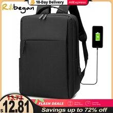 Мужской нейлоновый дорожный рюкзак для ноутбука 15,6 дюйма, с Usb-зарядкой