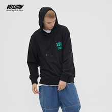 VIISHOW Fashion Brand 2019 autumn mens Hoodies Black Long sleeves Casual print Hoodie cotton Male Sweatshirt WD2593193