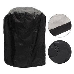 Universel jardin Patio bouilloire étanche protection barbecue gril couverture lavable forme ronde réglable cravate accessoires anti-poussière