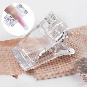 MIZHSE Transparent poly nail gelQuick Building Nail Tips Finger Extension Mold Tips Nail Dual Forms Nail Tips Clip Nail Art Tool