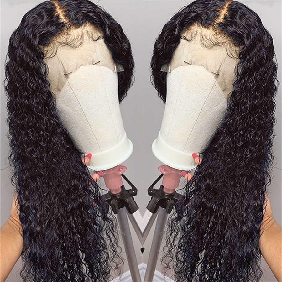 Koronka Frontal peruki z ludzkich włosów 13*4 Silk Top peruki z ludzkich włosów dla czarnych kobiet, w magazynie para: malezja ludzkiego włosa jedwabiu baza peruki Remy włosy