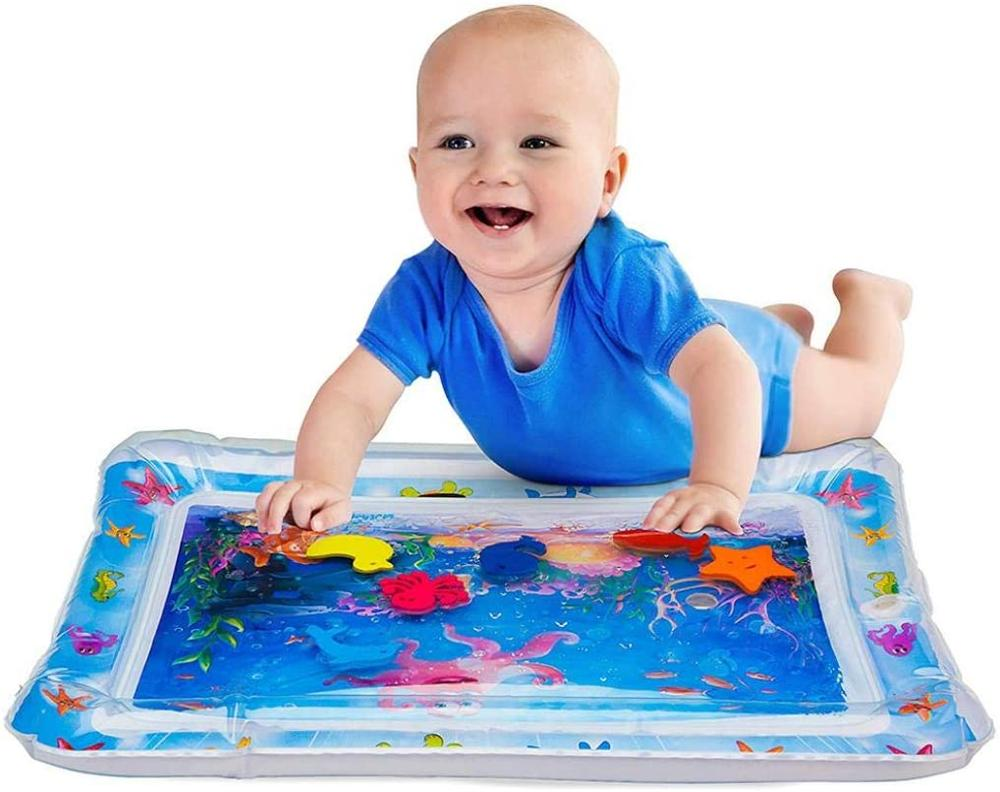 Tummy Time Mat Baby Water Play Mat, Baby Toys, 3 To 24 Months, InflatableTummy Time Premium Water Mat